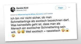 Tweet von Daniela Kickl