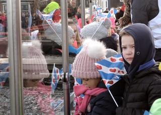 Kinderen bij Sint Piter en Swarte Pyt