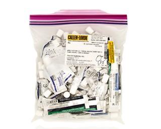 A Ziploc bag full of testosterone tubes