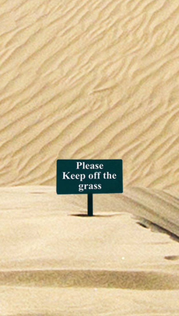 tabliczka na pustyni