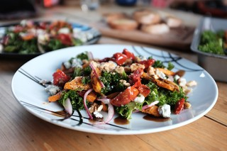 1550056333824-Robbie-4-Roast-butternut-squash-salad-with-pickled-red-onion-gorgonzola-and-sundried-tomatoes
