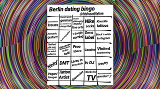 Berlin Dating Bingo Meme