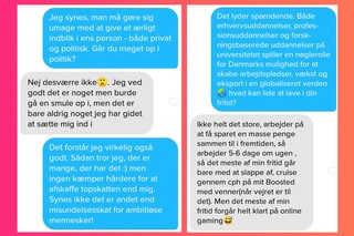 Screenshot fra Tinder, Liberal Alliance profil