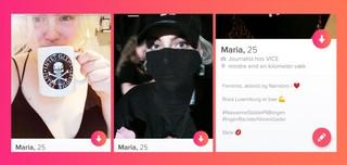 Screenshot fra Tinder, Enhedslisten profil