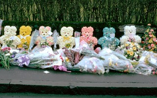 Floral tribute to the victims of the Dunblane massacre