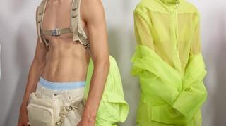 Harnesses and bare torsos at HUGO spring/summer 19