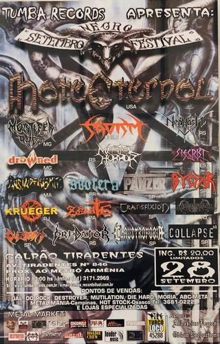 Cartaz da primeira edição do Setembro Negro Fest com o Hate Eternal de headliner.