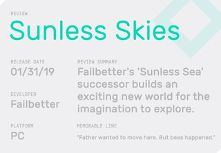The review summary for Sunless Skies