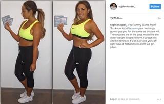 Sophie Kasaei Instagram post