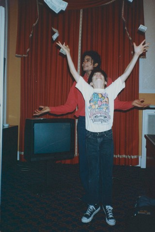 Michael Jackson with James Safechuck