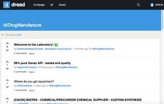 Ein Screenshot des Unterforums d/DrugManufacture