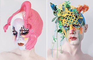 Lyle Reimer mixed media make-up portraits