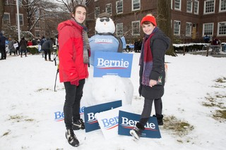 Bernie sanders rally interviews