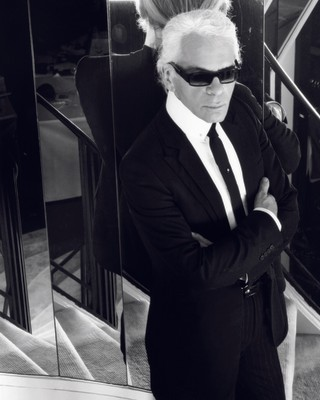 Karl Lagerfeld in i-D, styled by Edward Enninful.