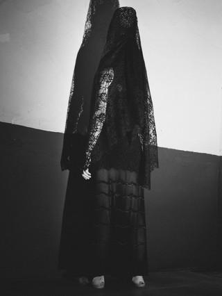 Julia de Castro wears a dress by AZZEDINE ALAÏA.
