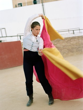 A student from The Bullfighting School of Sevilla.
