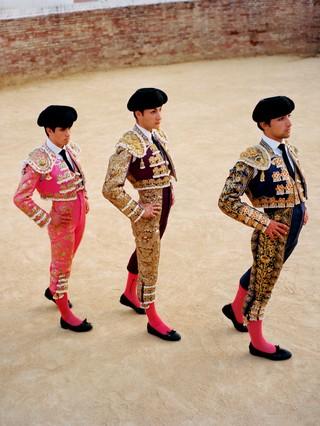 Students from The Bullfighting School of Sevilla.