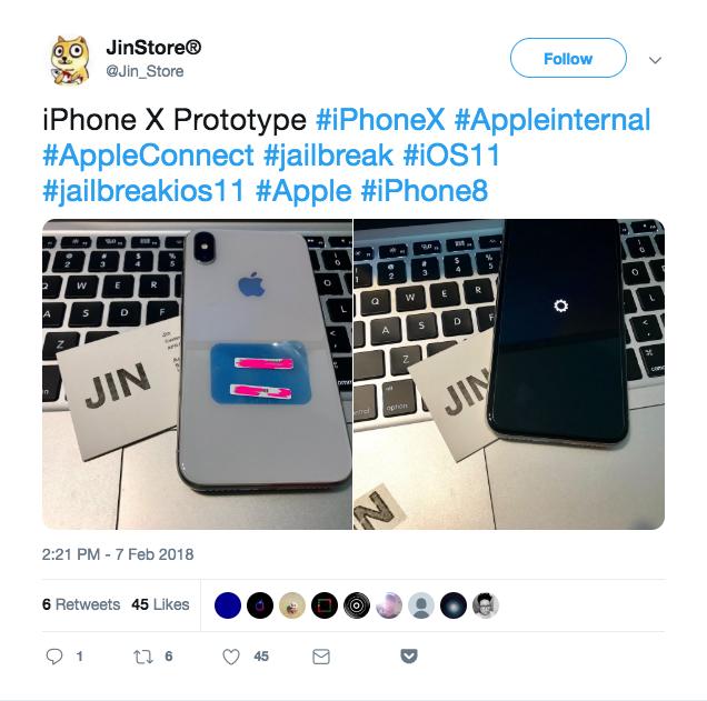 Screenshot of a tweet from Jin Store