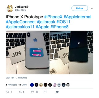 Screenshot of a tweet from Jin Store