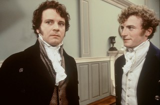 Colin Firth as Mr. Darcy rejects Bingley's encouragement in favor of being an asshole in Pride and Prejudice