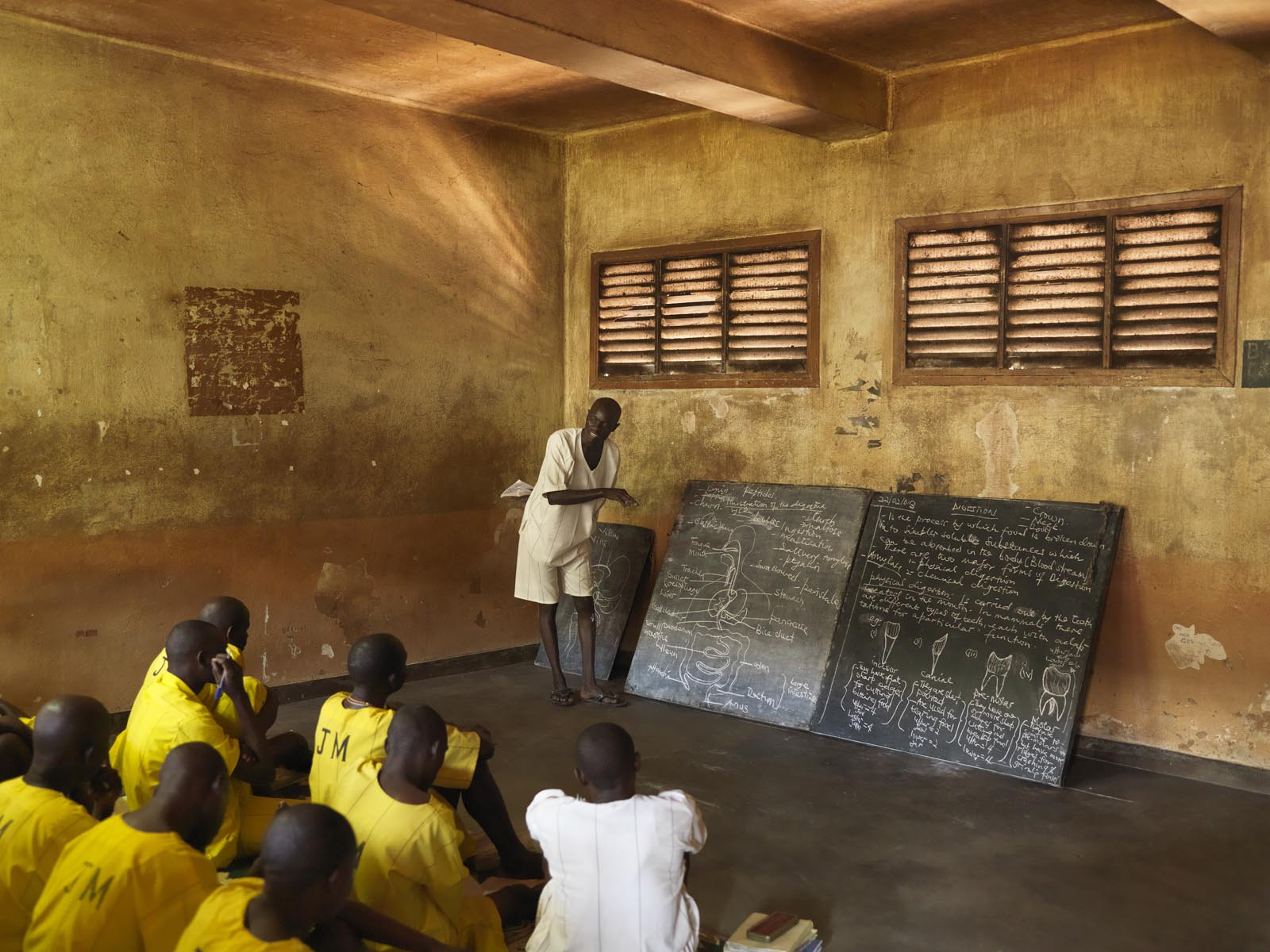 Biology lessons at Kirinya Main Prison in Jinja Uganda