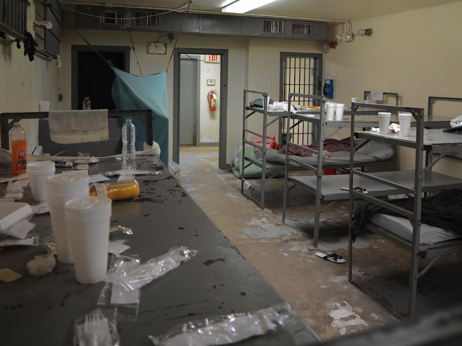 Men's dormitory in Calhoun County Jail in Morgan
