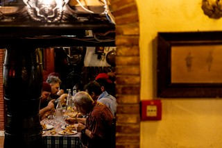 La cena del personale meo patacca roma trattoria