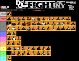 The Official Work-in-Progress Def Jam Fight for NY Tier List