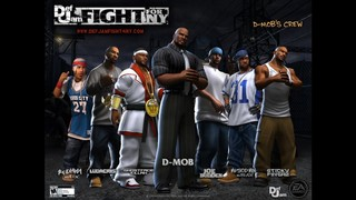 The D-Mob crew in Def Jam, with Sticky Fingaz at right