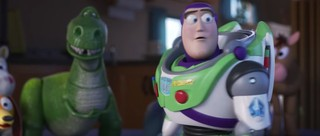 T Rex and Buzz Lightyear