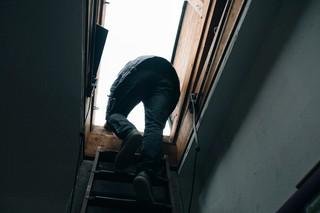 Felix steigt aufs Dach