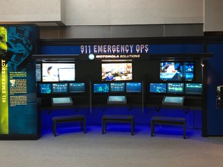 The 911 emergency opps exhibit at the NLEM