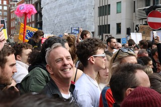 Fatboy Slim at the DJs for a People's Vote party on 23 March 2019
