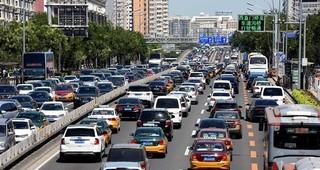 Traffic jam in Beijing.