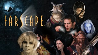 Production still from Farscape sci-fi TV show