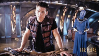 Production still from Farscape, sci-fi TV show