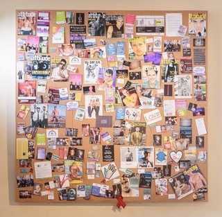 Hannah Quinlan & Rosie Hastings The Scarcity of Liberty #1 2016 Cork board mounted on wooden frame, magazine pages, pins Courtesy the artists and Arcadia Missa