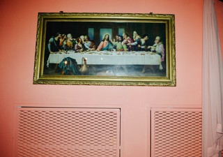 święty obrazek na ścianie