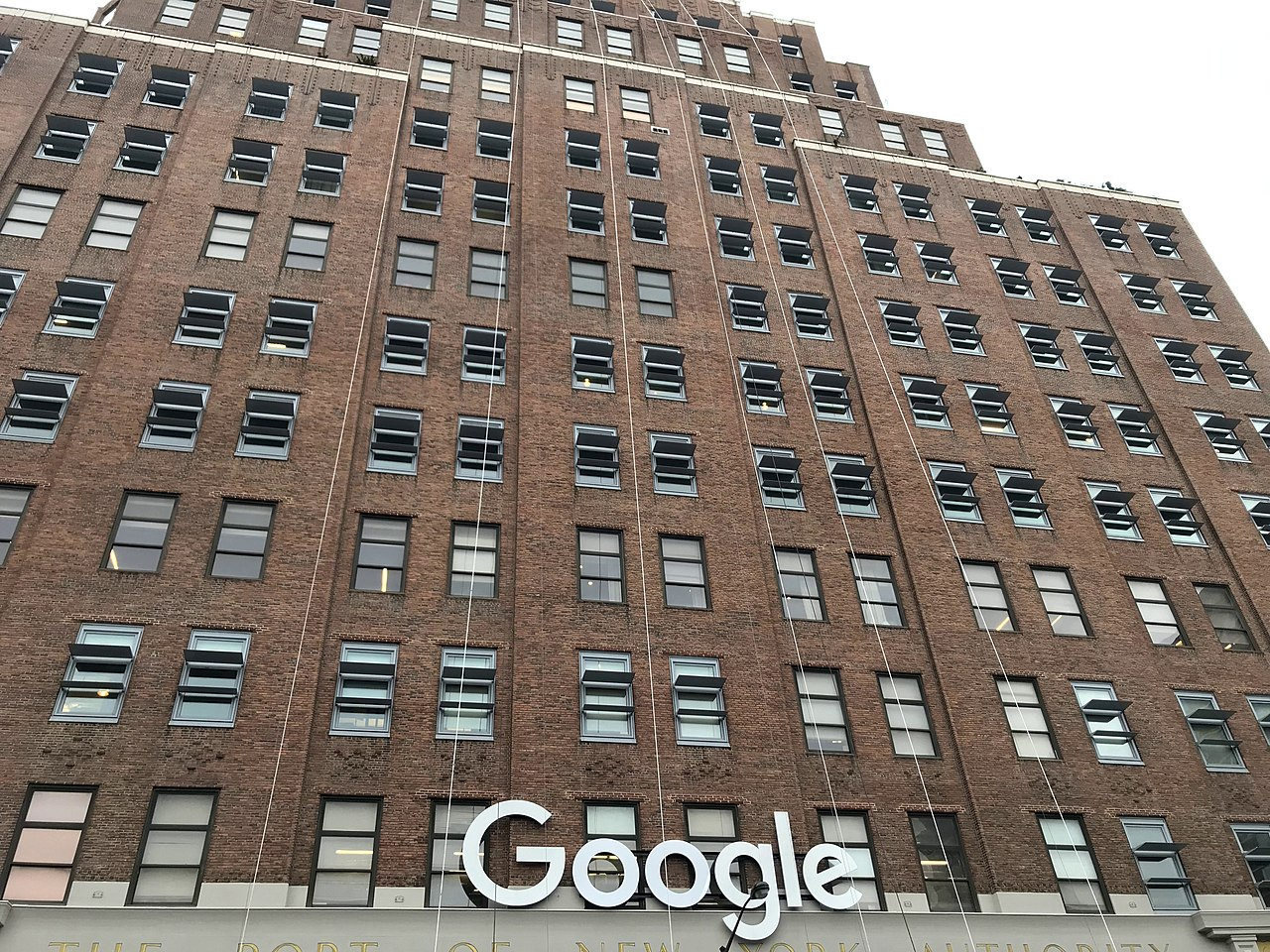 Façade of the Google building, New York City, USA