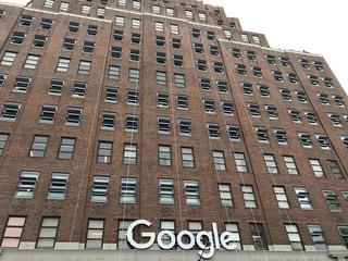 Façade of the Google building, New York City, USA