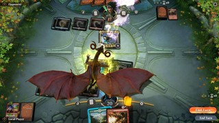 A dragon takes win in Magic the Gathering Arena