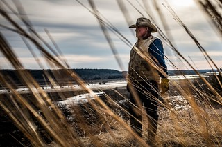 Paul Allen, 75, looks at the damage caused to his cattle ranch by floods after  a dam collapsed about 4 miles away on the Niobrara River in the early hours of March 14. (Jika Gonzales/VICE News.)