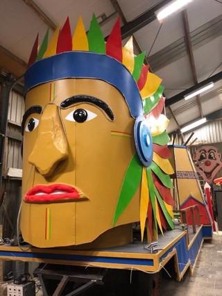 indianen carnavalswagen