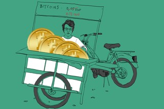 bitcoin in bakfiets