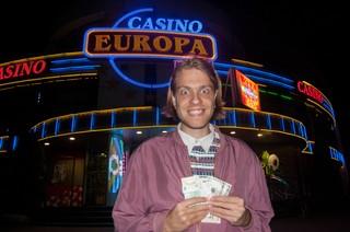 Tim blij voor een casino.