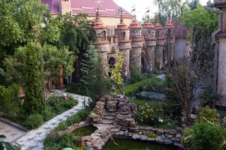 Tuin met kasteel