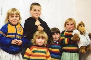Vijf jonge kinderen
