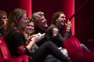 lachend publiek