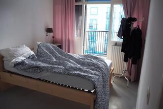 Slaapkamer met bed
