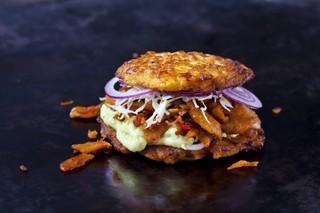 Ein vegetarischer Burger. Sorry, was besseres ist uns hier jetzt nicht eingefallen!